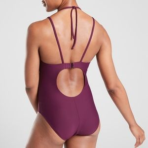Athleta Skinny Strap Keyhole One Piece Swimsuit